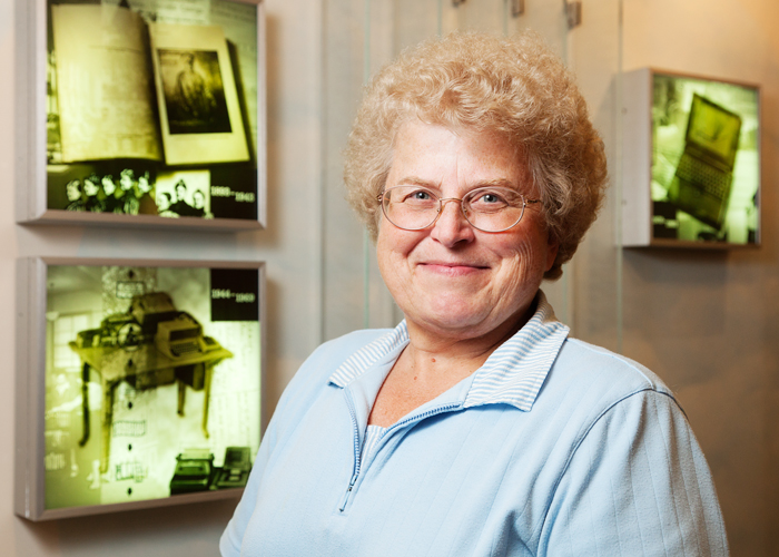 Sally Eakin has been a part of the administrative staff of the UIs Graduate School of Library and Information Science for 33 years. Her work includes purchasing, planning and logistics for instructors and students  both on and off campus.