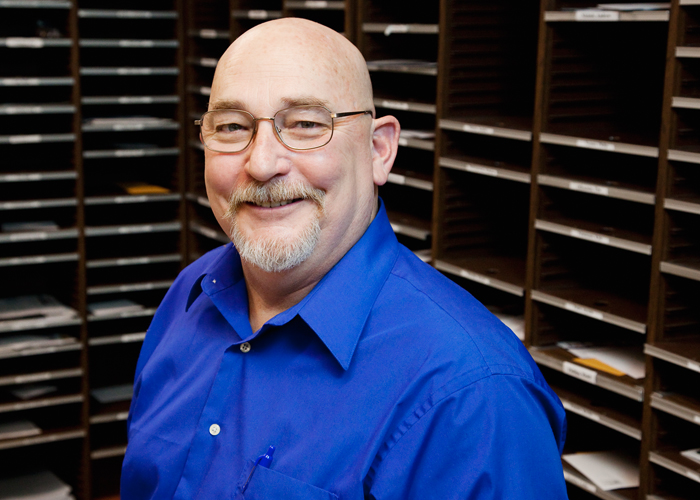 After delivering mail south of Green Street for the U.S. Postal Service, Bob Douglas retired and now works as an inventory specialist for Campus Information Technologies and Educational Services.