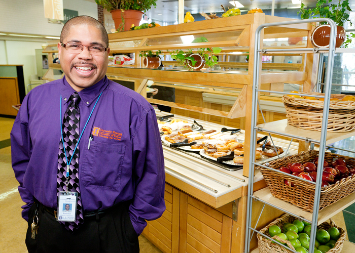 Terence Bolden, a supervisor in food service at Illinois Street Residence Halls, grew up with a family tradition of baking that became a lifelong passion.