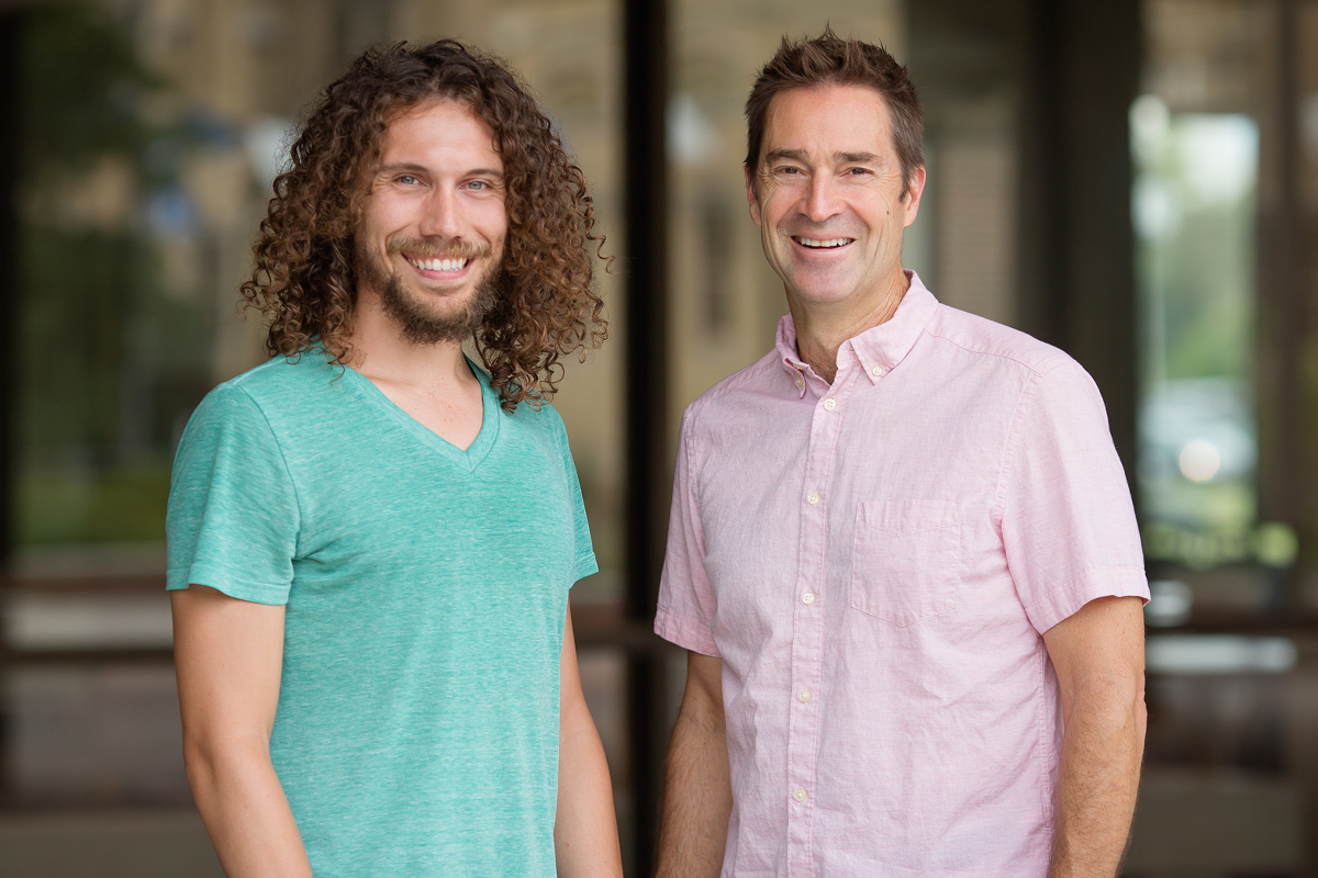 University of Illinois scholars, from left, Jordan Davis, a doctoral student in social work, and psychology professor Brent Roberts are studying the use of Mindfulness Based Relapse Prevention at helping young adults stay sober after substance use treatment. The project, funded by a grant from the National Institute on Substance Abuse, is believed to be the first research to explore the protocol's efficacy with marginalized young adults.