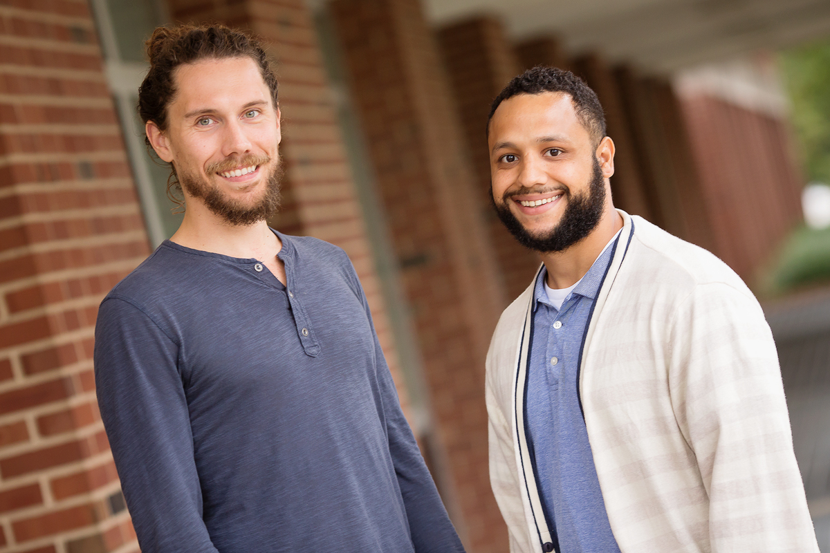 Juvenile offenders with post-traumatic stress disorder diagnoses and substance use problems may require tailored treatments to stay sober and out of trouble with the law, suggests two new studies co-authored by, from left, Jordan Davis, a doctoral student in social work, and Joey Merrin, a doctoral student in child development, both at the University of Illinois.
