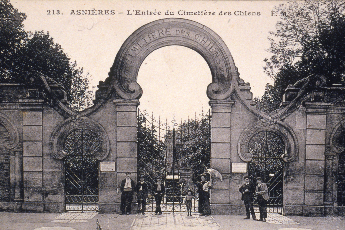 Dogs, cats, monkeys, rabbits, parrots, lions and horses are buried in Le Cimitière des Chiens (the Dogs' Cemetery) in the Parisian suburb of Asnières.