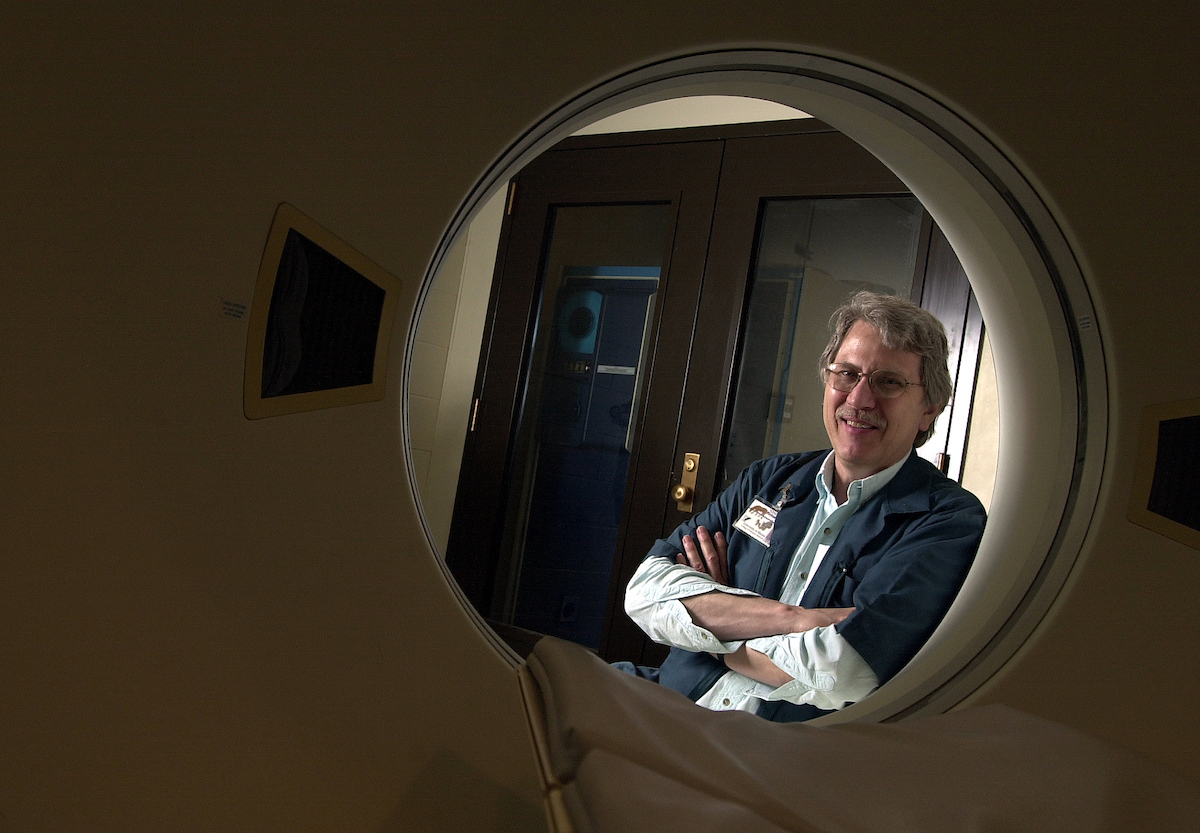 Richard Keen is an animal imaging technoligist in thelarge animal hospital. Keen started his career with the university Jan. 2, 1970.