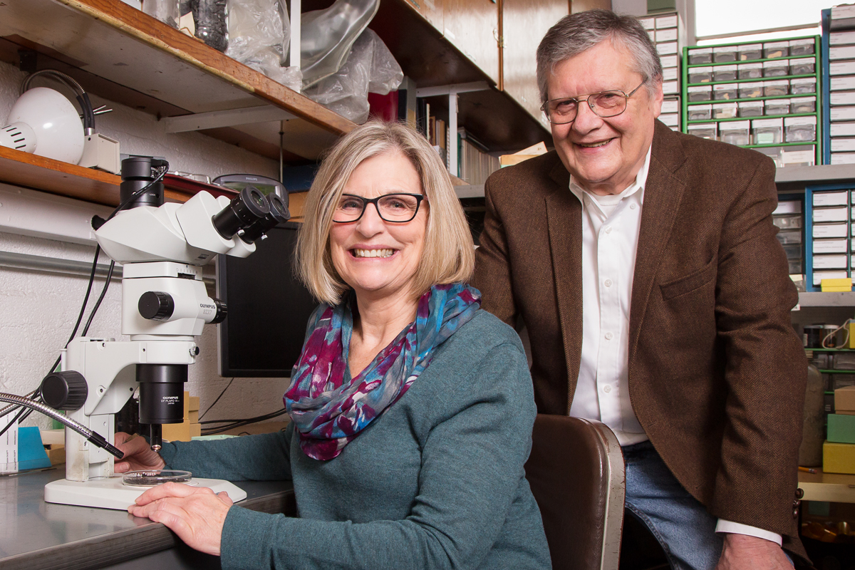 Illinois State Archaeological Survey archaeobotanist Mary Simon, with ISAS director Thomas Emerson, is correcting misconceptions about the earliest cultivation of corn in Illinois.