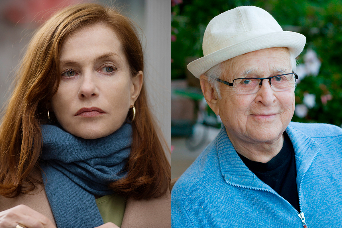 Actress Isabelle Huppert and television producer Norman Lear.
