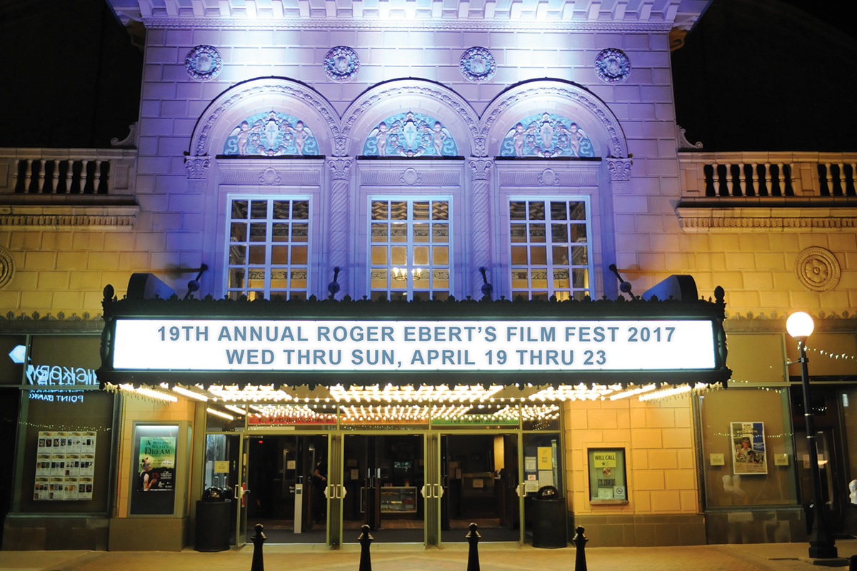 """The five-day """"Ebertfest"""" will open April 19 at the Virginia Theatre movie palace in downtown Champaign. Tickets for individual films go on sale April 1."""