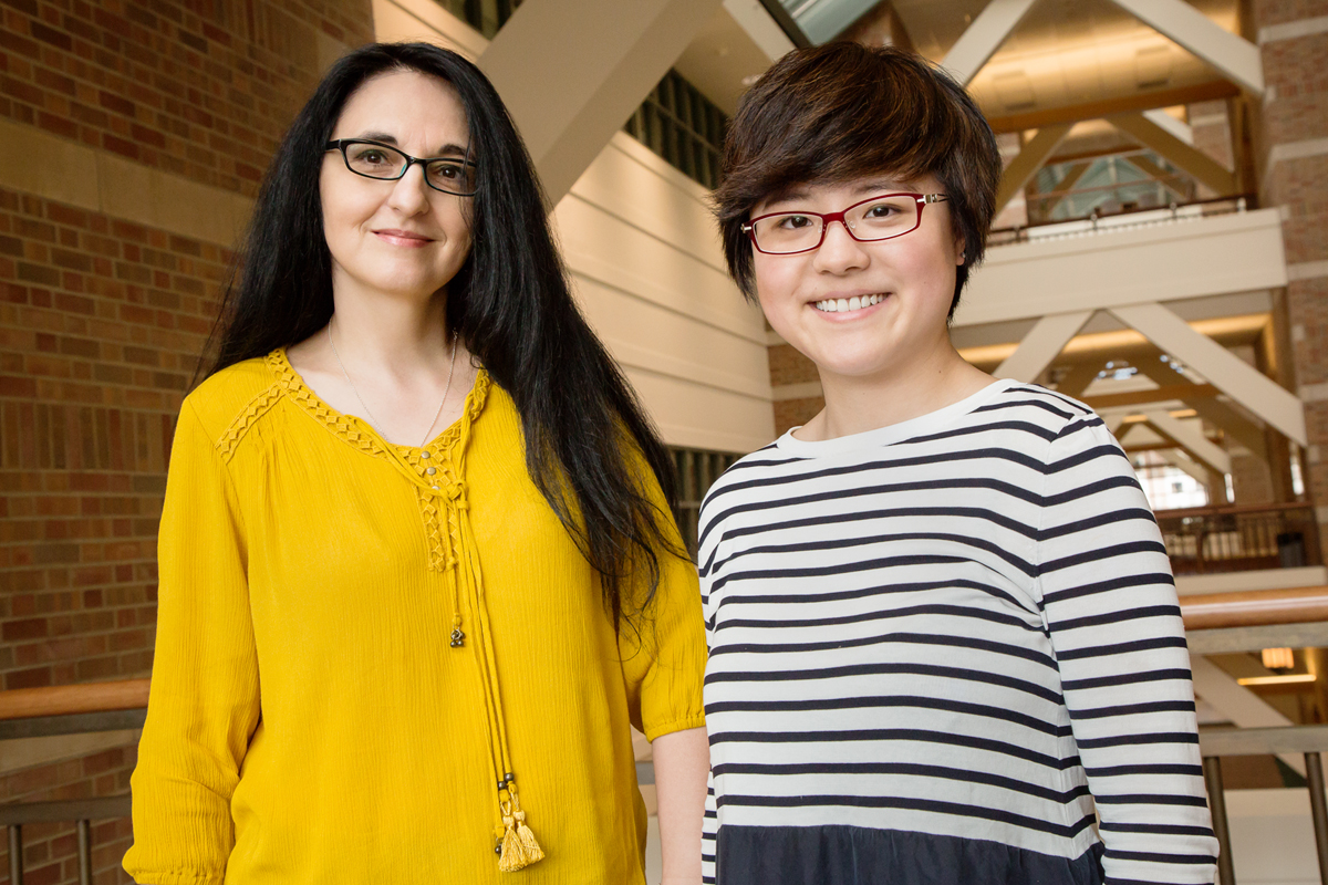 U. of I. psychology researcher Sanda Dolcos and graduate student Yifan Hu found brain differences among healthy college students that are linked to their risk of anxiety and negative bias.