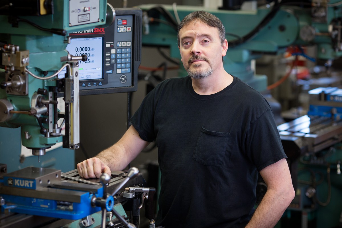 Gregory S. Milner, the research laboratory shop supervisor in the aerospace engineering department, is one of eight U. of I. staff members honored with the Chancellor's Distinguished Staff Award this year.