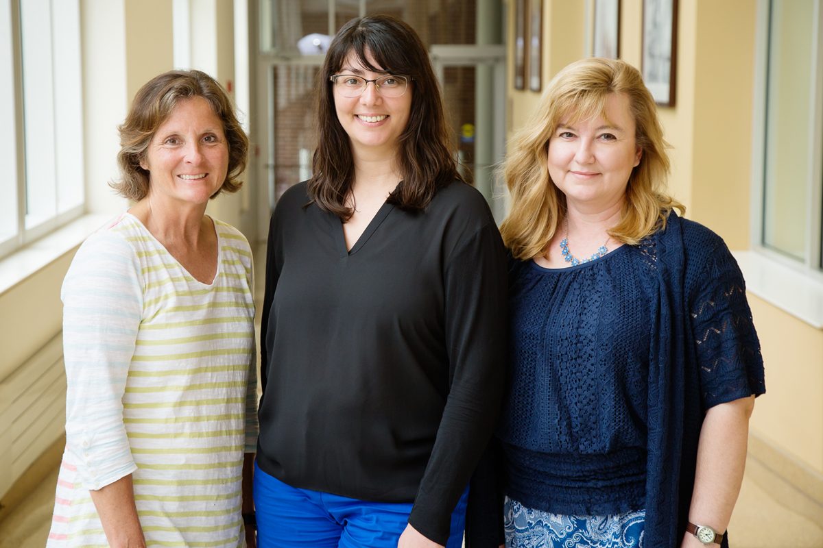 University of Illinois faculty members, from left, Kim Shinew, Liza Berdychevsky and Monika Stodolska are co-writing a series of papers that examine gang membership and criminal activity from the perspective of leisure science. The studies are based on interviews with former members of street gangs operating in Chicago and central Illinois.