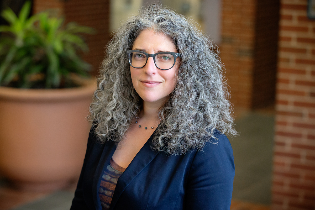 Photo of Lauren R. Aronson, an associate clinical professor of law and the director of the Immigration Law Clinic at the U. of I. College of Law.