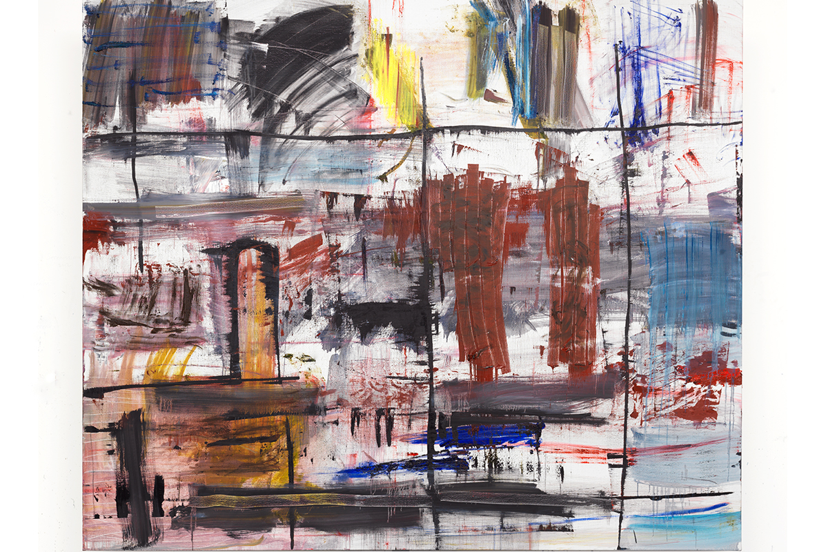 """Image of the abstract painting """"Bel Canto"""" by Louise Fishman"""