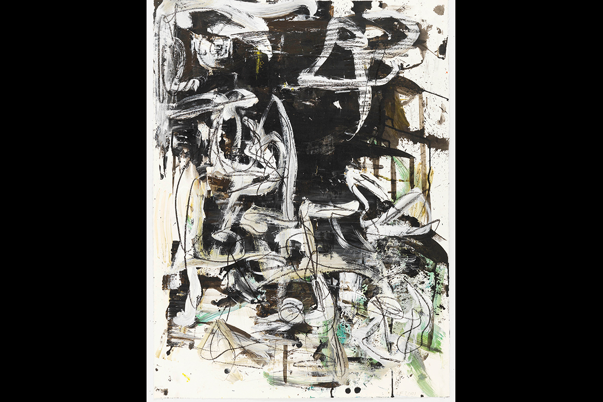 Image of an abstract painting by Louise Fishman