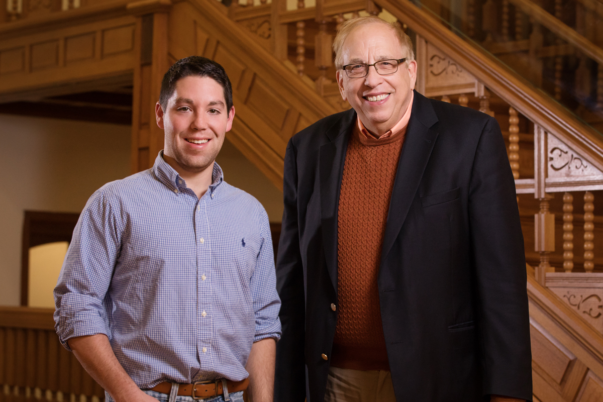 Illinois atmospheric sciences researchers Zach Zobel, left, and professor Donald Wuebbles led a team that developed new, high-resolution models that may help direct climate policy initiatives at the local level.