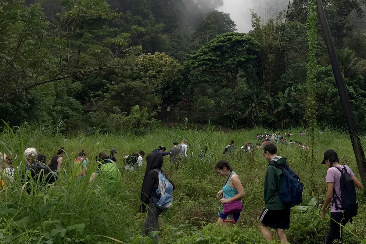 Fulbright grantees set out into the wilderness as part of a team-building exercise in Malaysia.