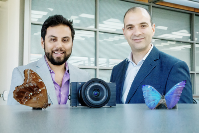 Inspired by the eye of the morpho butterfly, a new camera that can see both visible and infrared light could help surgeons more easily identify cancerous tissue.