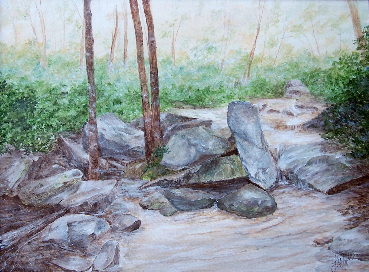 Lori Fuller's paintings will be exhibited at the Illini Union Art Gallery, April 18 - May 31, 2018. A trip to Ramsey Cascades in the Great Smoky Mountains National Park inspired her work.