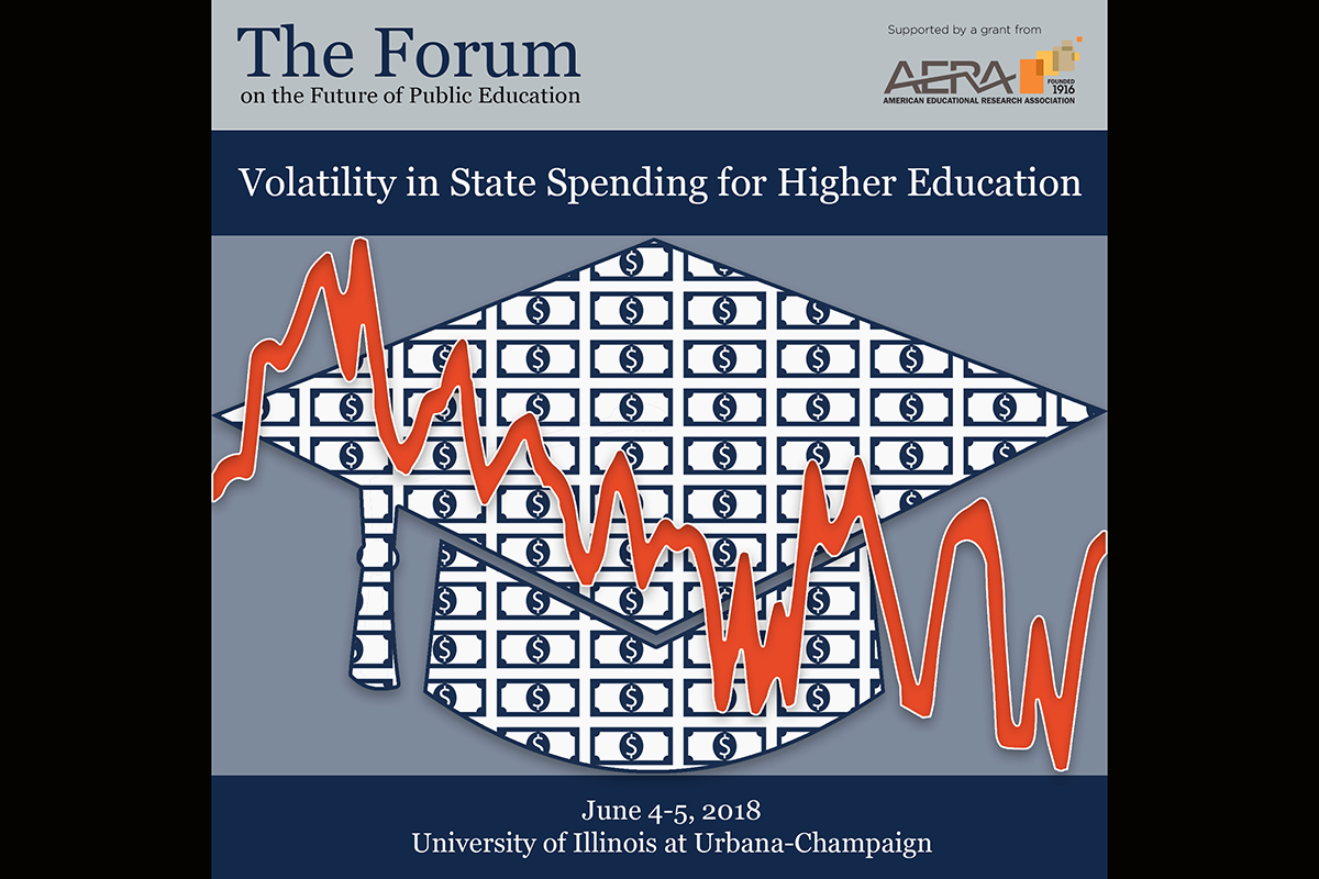 The Volatility in State Spending for Higher Education conference will explore the impact of unpredictable state support on various stakeholder groups, including students and postsecondary institutions.