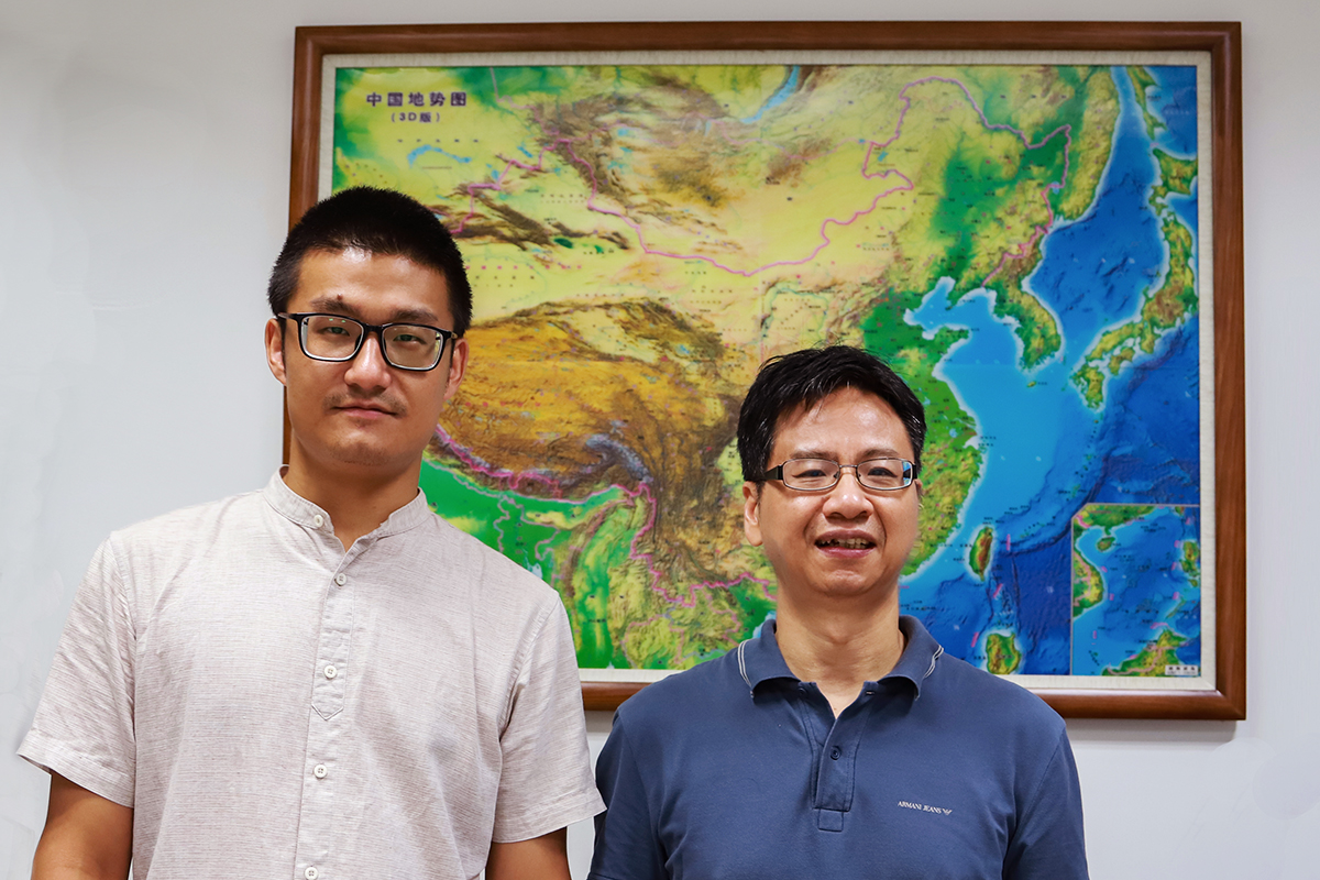 Illinois geology professor Xiaodong Song, right, and graduate student Jiangtao Li are authors of a new study that suggests rips in the upper mantle layer of the Indian tectonic plate are responsible for the locations of earthquakes and the surface deformation seen in southern Tibet.