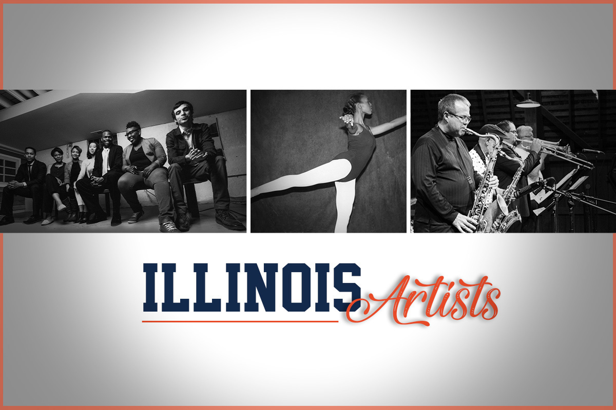 A new Big Ten Network documentary features, from left, the work of the Definition Theatre Company, Endalyn Taylor and Illinois Jazz Studies faculty.