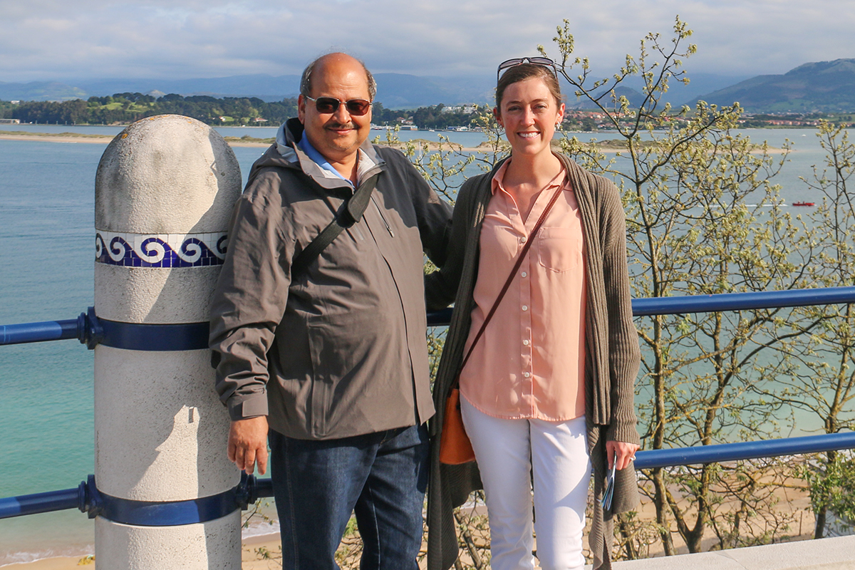 Civil and environmental engineering professor Praveen Kumar, left, and former graduate student Allison Goodwell, who is currently a civil engineering professor at the University of Colorado, Denver, studied the connectivity between ecosystem responses to rainfall and drought.