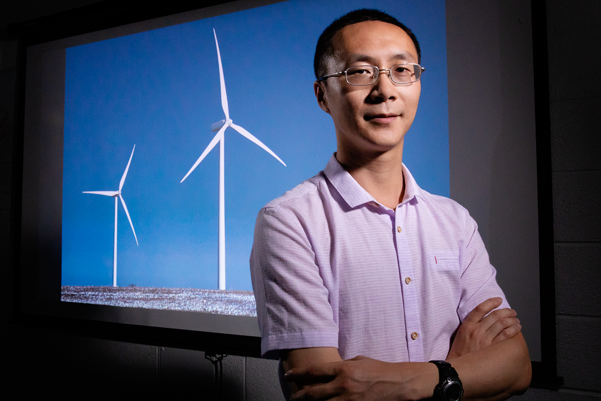 Yan Li and his colleagues found that a massive wind and solar installation in the Sahara Desert could have beneficial climatic and ecological effects.
