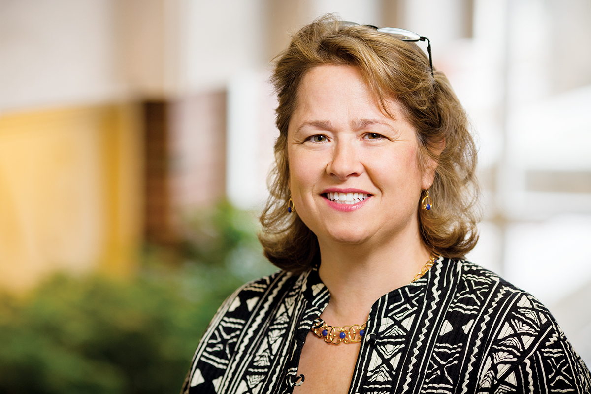 "Photo of Robin Fretwell Wilson, the Roger and Stephany Joslin Professor of Law at Illinois and editor of the book ""The Contested Place of Religion in Family Law."""