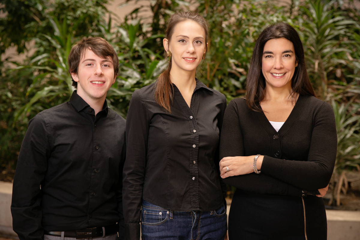 Photo of U. of I. psychology professor Dolores Albarracin, right, and co-authors Benjamin X. White, left, and Sophie Lohmann.