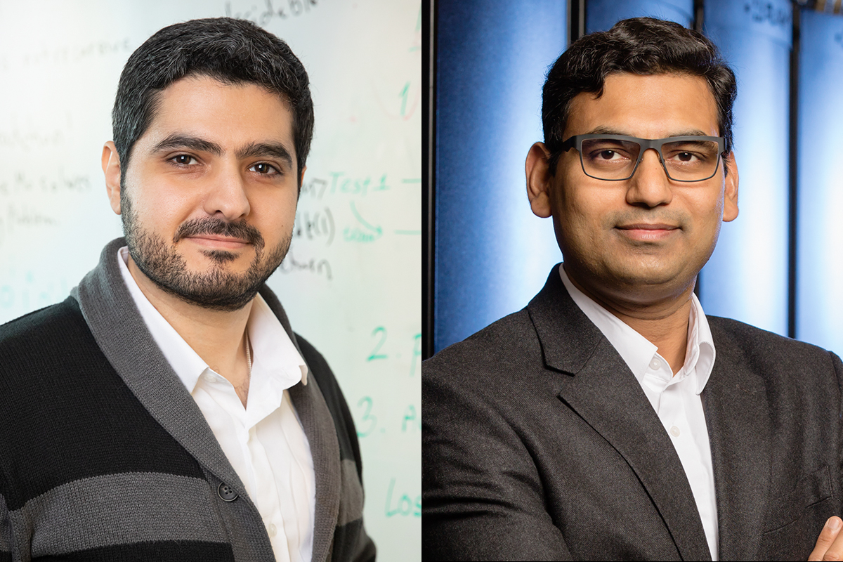 Haitham Al-Hassanieh, left, and Diwakar Shukla are recipients of 2019 Alfred P. Sloan Foundation fellowships.