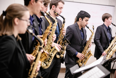 The University of Illinois Saxophone Ensemble tackles music never meant for the saxophone.