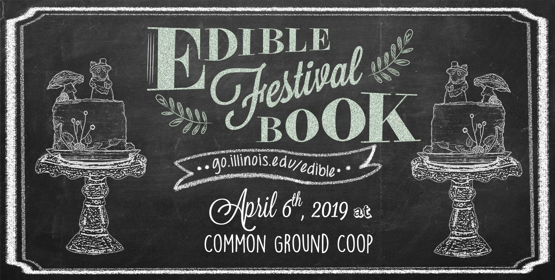 Graphic announcing the Edible Book Festival