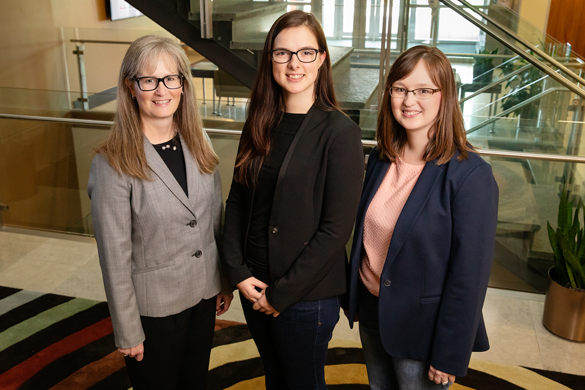 From left, Sharon M. Nickols-Richardson, a professor of food science and human nutrition and director of Illinois Extension and Outreach; Cassandra J. Nikolaus, a graduate student in human nutrition and the lead author of the study; and Brenna Ellison, a professor of agricultural and consumer economics.