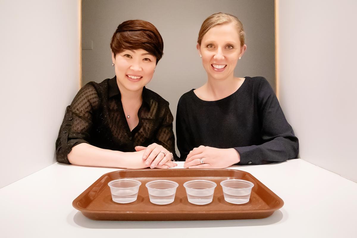 Photo of food science professor Soo-Yeun Lee and alumna Lauren Killian