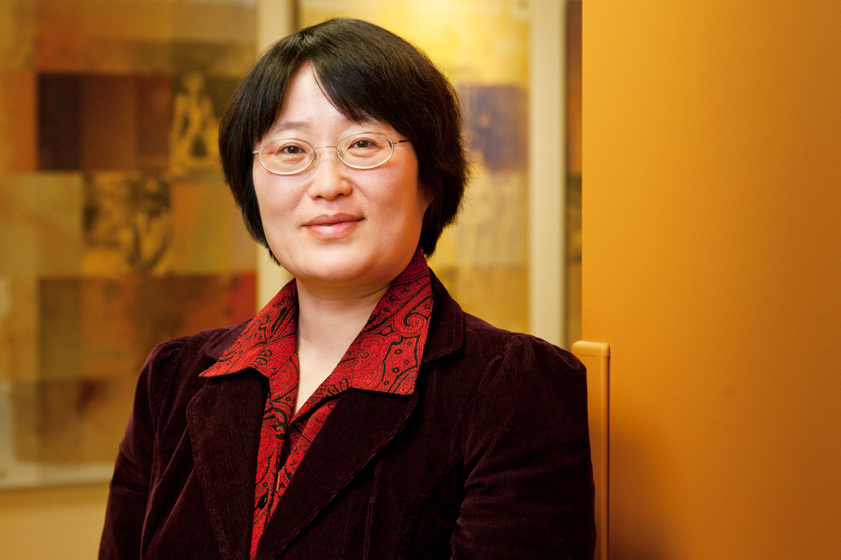 Photo of study lead author and University of Illinois social work professor Min Zhan