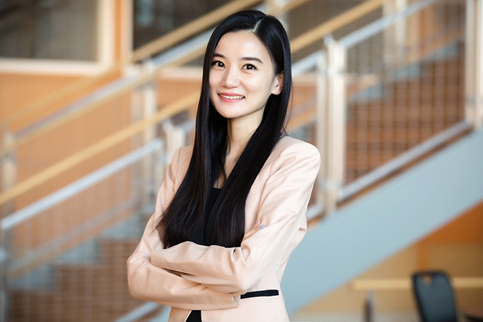 Photo of Yuqian Xu, a professor of business administration at the Gies College of Business at Illinois.