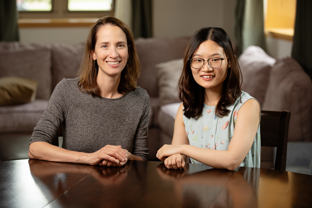 Photo of University of Illinois human and community development professor Nancy McElwain and doctoral student Xi Chen
