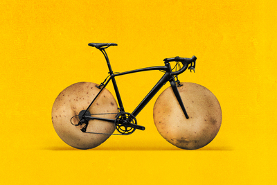 According to a new study of bicycle enthusiasts, potatoes make a savory alternative to sweetened commercial gels used by athletes for a quick carbohydrate boost during exercise.