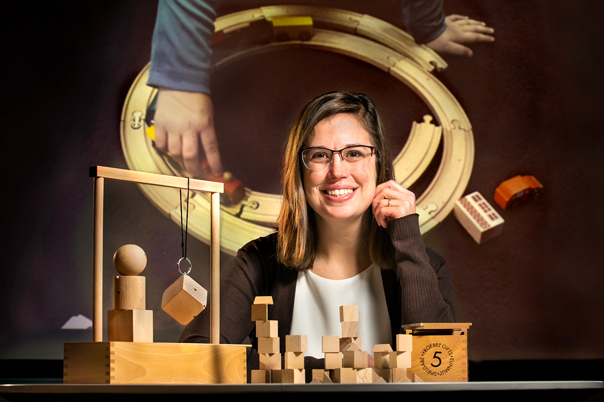 Graduate student Mary Lyons studies teachers' strategies for supporting young children's play-based learning.