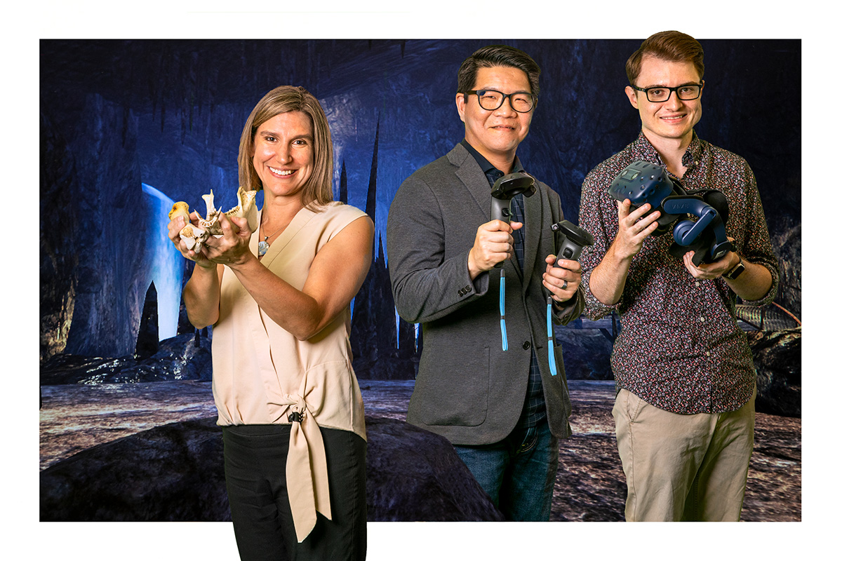 U. of I. anthropology professor Laura Shackelford; educational policy, organization and leadership professor David Huang; and computer science graduate student Cameron Merrill have created Virtual Archaeology, a virtual reality laboratory that brings an in-depth archaeological field school experience to campus.
