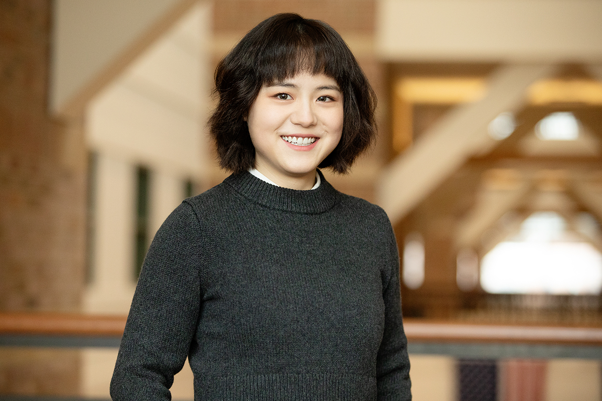Portrait of doctoral student Yifan Hu.