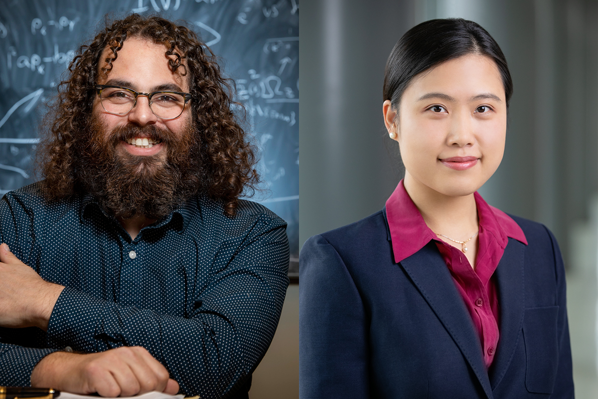 Two Illinois professors are recipients of Alfred P. Sloan Research Fellowships this year: from left, physics professor Barry Bradlyn and electrical and computer engineering professor Zhizhen Zhao.