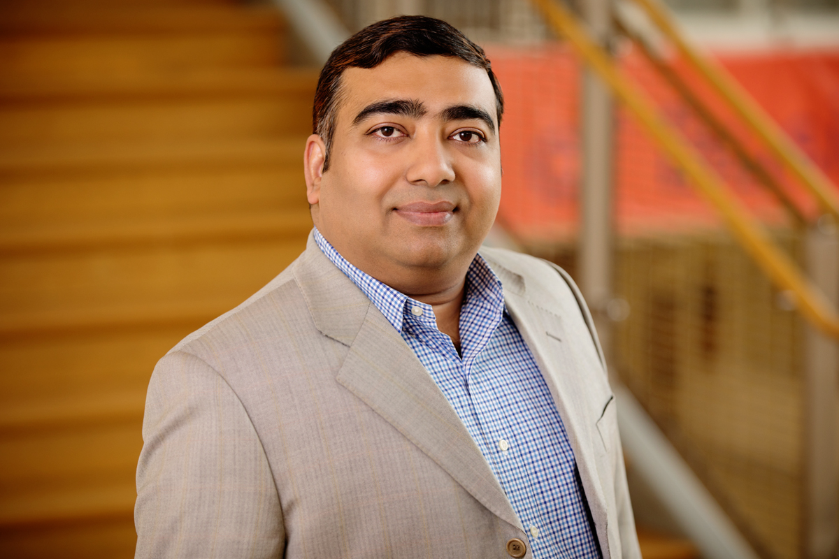 Photo of Ujjal Kumar Mukherjee, a professor of business administration at the Gies College of Business at Illinois who studies innovation in health care.