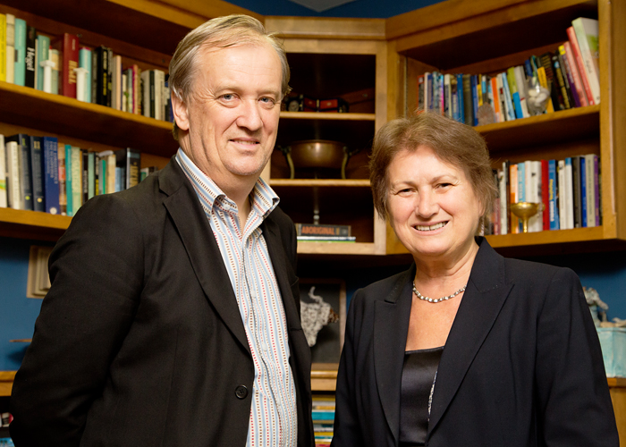 Photo of education policy professors Mary Kalantzis and Bill Cope