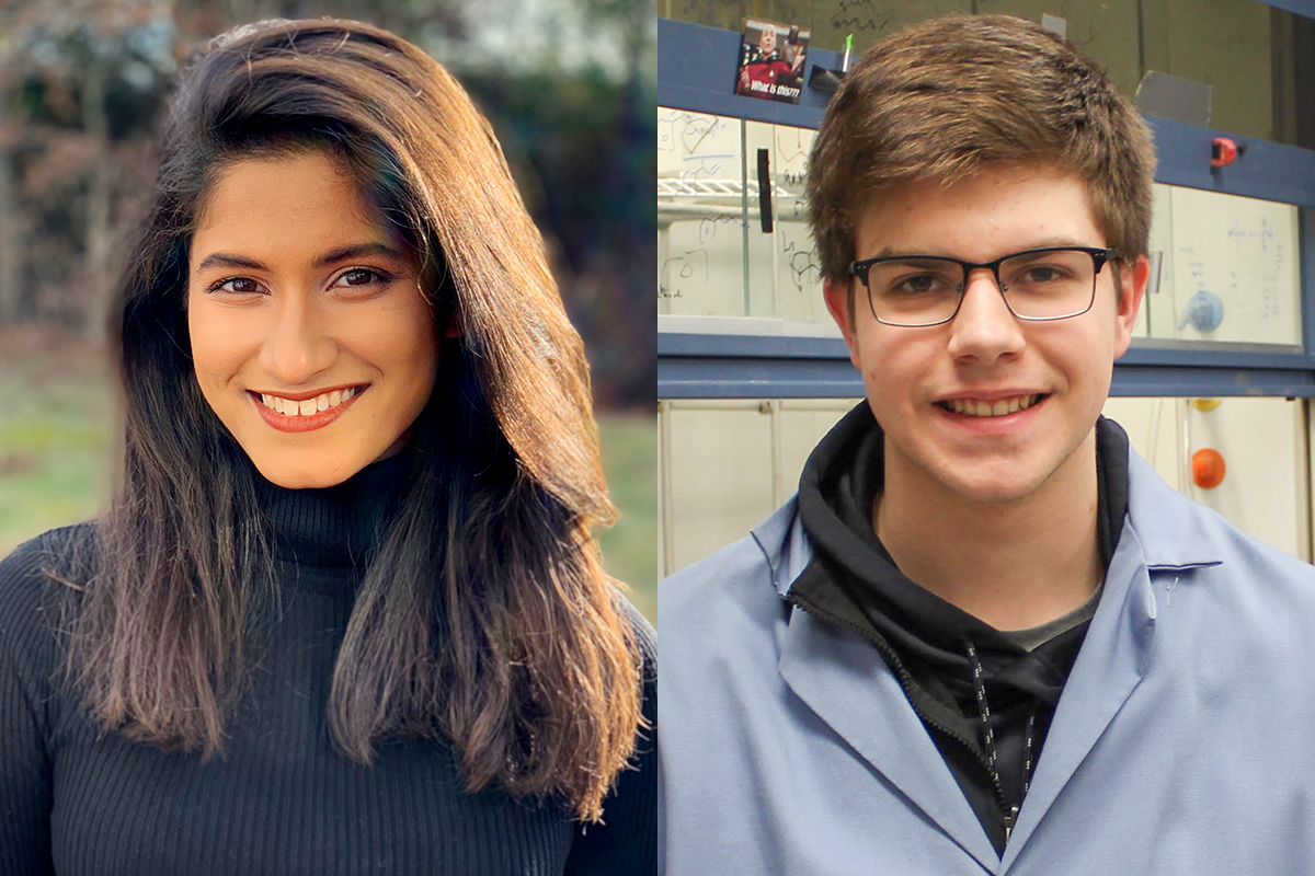 Sriyankari Chitti and William Lyon honored by the Barry M. Goldwater Scholarship and Excellence in Education Program.