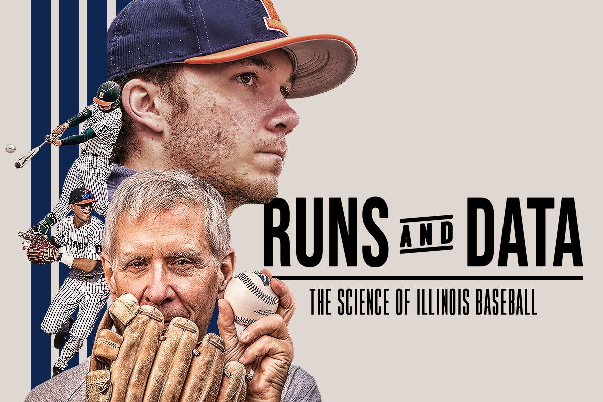 """Runs and Data: The Science of Illinois Baseball"" graphic"