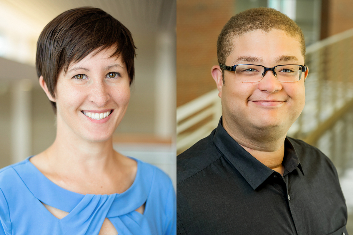 Photos of law professor Michelle D. Layser and urban and regional planning professor Andrew Greenlee.