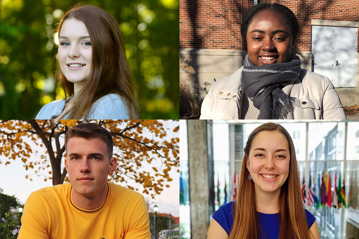 Four students at the University of Illinois were selected to study in world regions critical to U.S. interests as recipients of David L. Boren Scholarships.