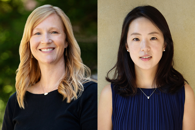 Photos of professors Julie Bobitt and Hyojung Kang